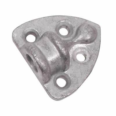 Heavy Cast Socket - 12mm Hole - Galvanised - Pack 4