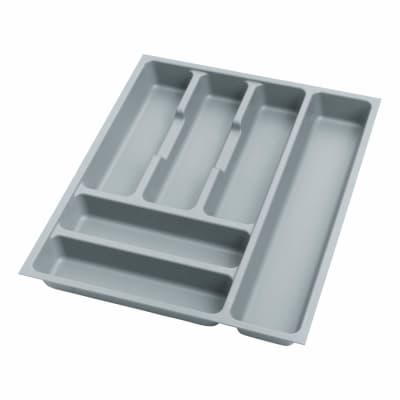 Cutlery Tray - To Suit 450mm Drawer Width - Grey Plastic
