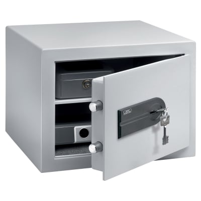 Burg Wächter C 1 S CityLine Key Operated Fire Safe - 278 x 402 x 376mm - Light Grey