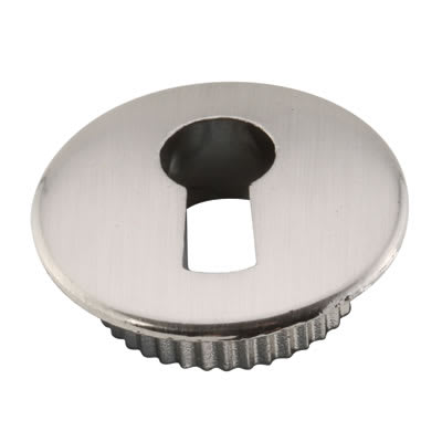 Push To Fit Cabinet Escutcheon - Brushed Nickel