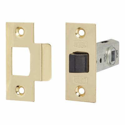 UNION® 2648 Tubular Mortice Latch - 64mm Case - 44mm Backset - Polished Brass