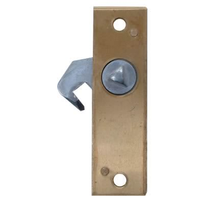 Hook Bolt Budget Lock - 78 x 23mm - Left Hand - Brass