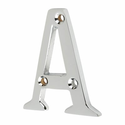 53mm Screw Fixed Letter - A - Polished Chrome
