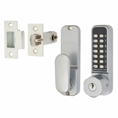 Borg BL2701 Easicode Pro Code Operated Lock with Hexagonal Knob and Key Override  - Grey
