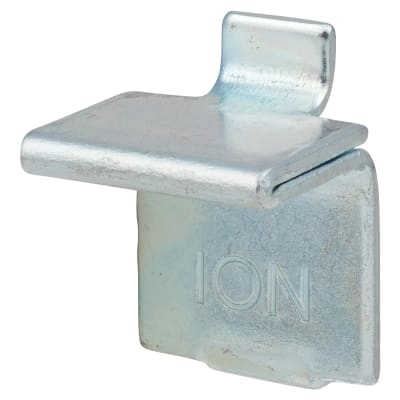 ION Heavy Duty Flat Bookcase Clip - Bright Zinc Plated - Pack 10