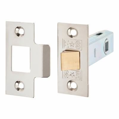 Project Contract Tubular Latch Pack - 76mm Case - 55.5mm Backset - Nickel Plated - Pack 10