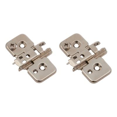 Blum CLIP Cruciform Mounting Plate - Screw On - 0mm Spacing - Pressed Steel - Pair