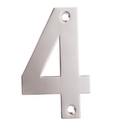 Altro 100mm Numeral - 4 - Satin Stainless Steel
