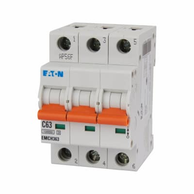 Eaton MEM 63A Triple Pole 3 Phase MCB - Type C