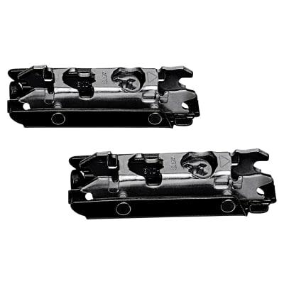 Blum CLIP Straight Mounting Plate - Screw On - 0mm Spacing - Steel - Black Onyx - Pair