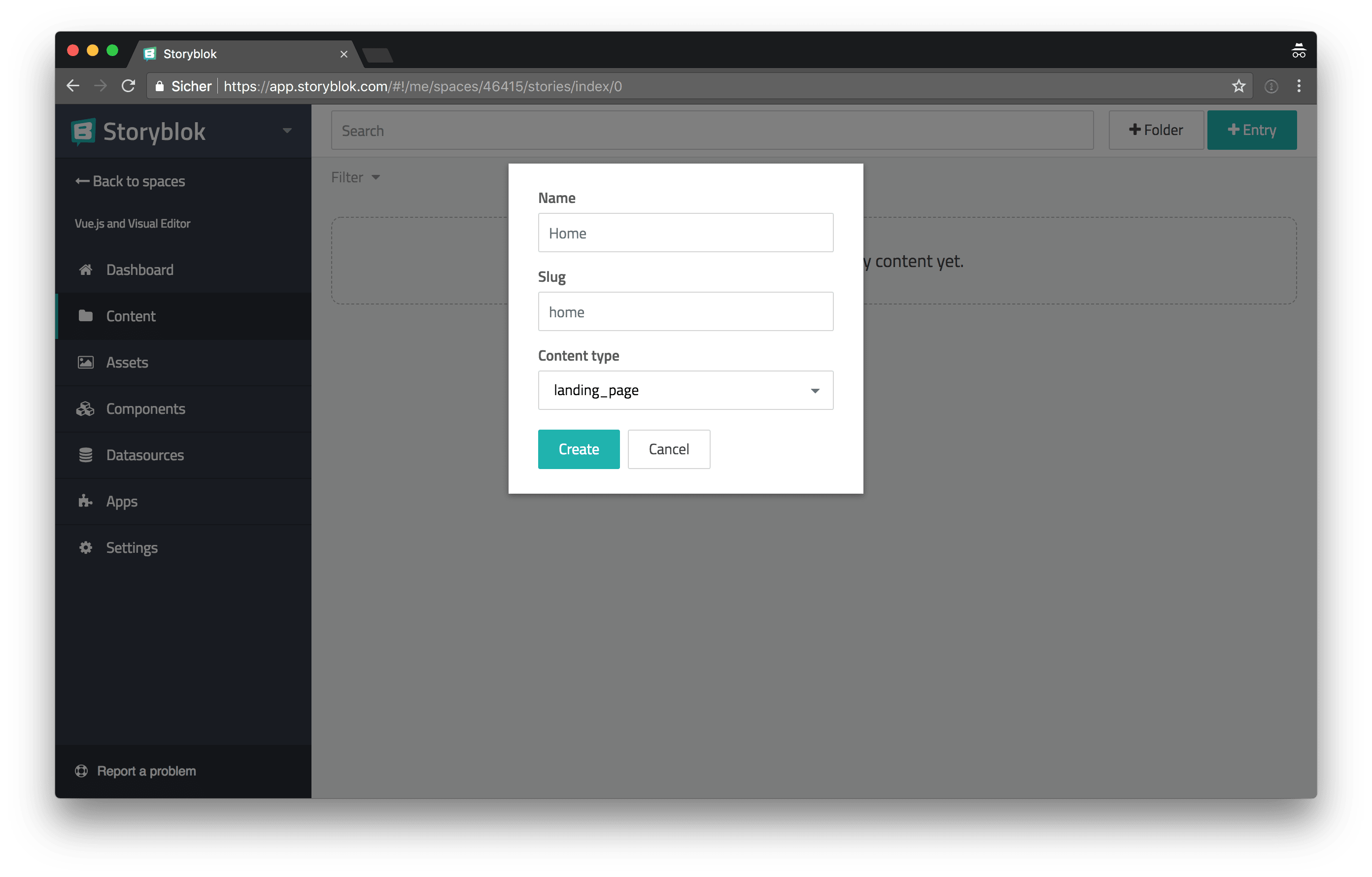 Building a Website with Vue js, the Storyblok Visual Editor