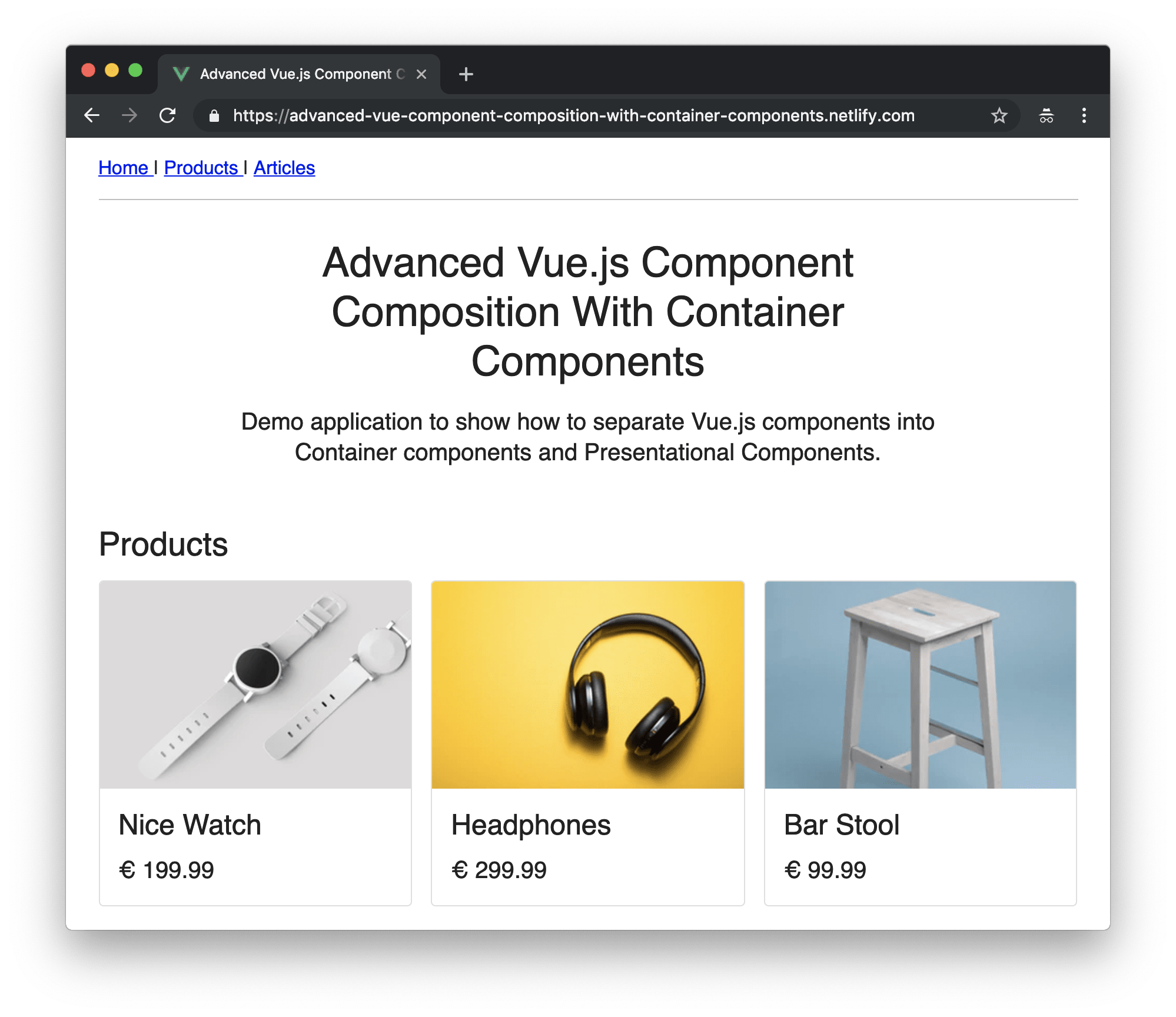 Container Components in Vue js: Advanced Component
