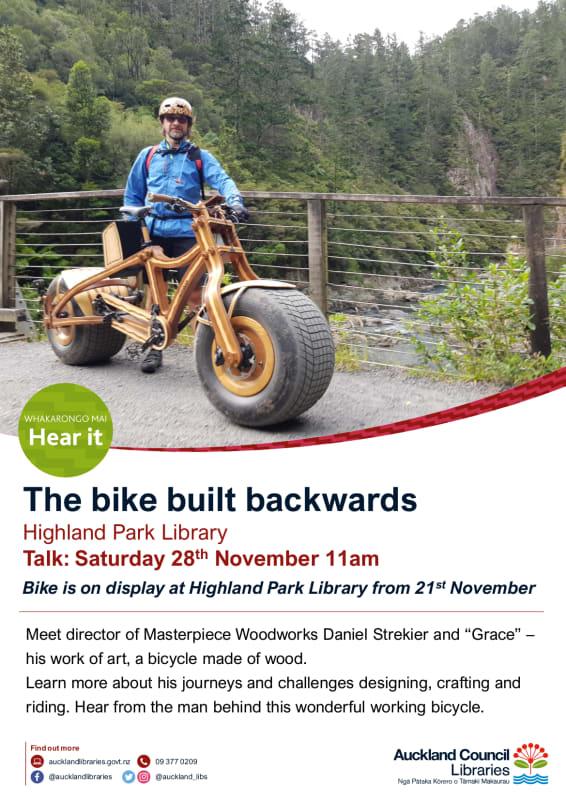Flyer - Daniel Strekier talk - 28th November 2020 11AM - Higland Park Library