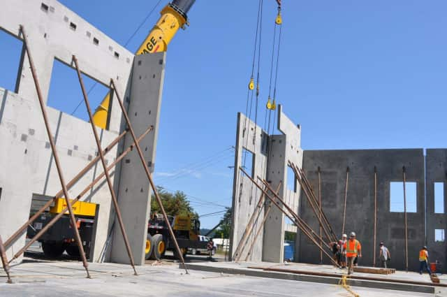 Precast panel in action