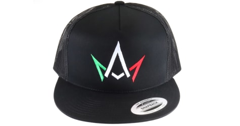 March And Ash - Black Hat Red White Green Crown Logo - Snapback