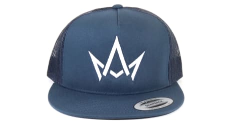 March And Ash - Navy Hat White Crown Logo - Snapback