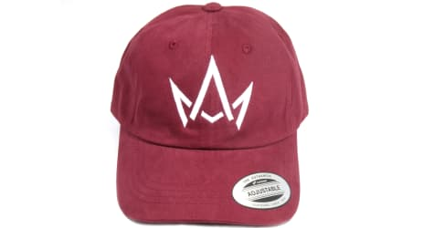 March And Ash - Maroon Hat White Crown Logo - DAD Hat