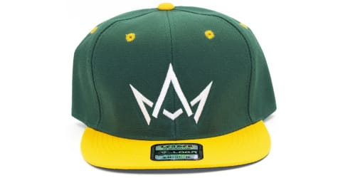 March And Ash - Green Hat White Crown With Yellow Brim - Snapback