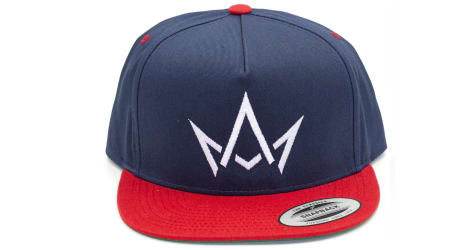 March And Ash - Navy Hat White Crown With Red Brim - Snapback