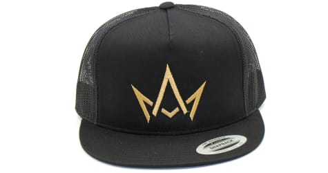 March And Ash - Black Hat Gold Crown Logo - Snapback