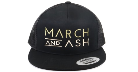 March And Ash - Black Hat M & A Text Logo - Snapback