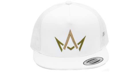 March And Ash - White Hat Green & Gold Crown Logo - Snapback