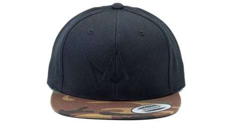March And Ash - Black Hat Black Crown With Camo Brim - Snapback
