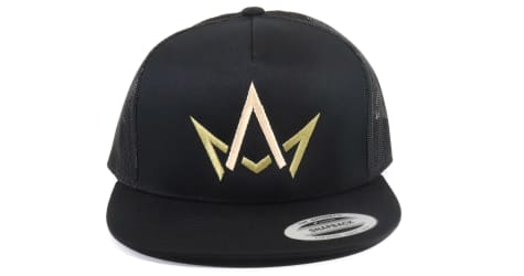 March And Ash - Black Hat Green & Gold Crown Logo - Snapback