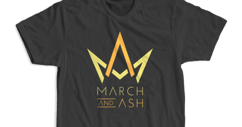 Men's - March And Ash Logo T-shirt  Black