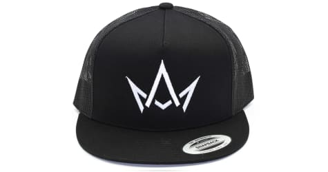 March And Ash - Black Hat White Crown Logo - Snapback