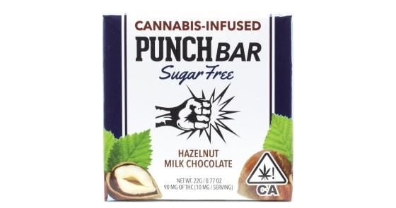 Punch Edibles - Sugar Free Hazelnut Milk Chocolate Bar - 90mg