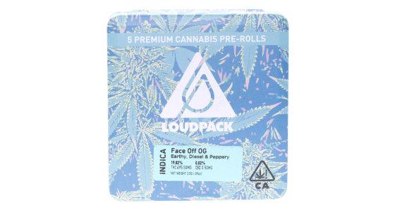 Loudpack - Face Off OG - 5 Pack Pre-Rolls
