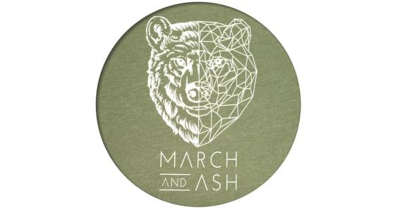 Women's - Green Geometric Bear T-Shirt - Medium