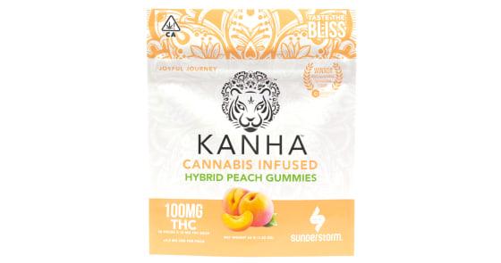 Kanha - Hybrid Peach Gummies - 100mg