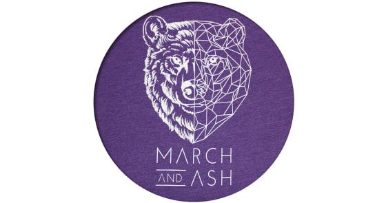 Women's - Purple Geometric Bear T-Shirt - XL
