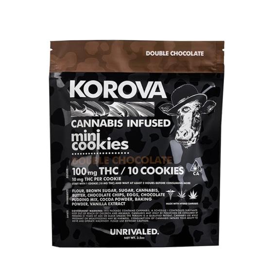 Korova - Double Chocolate Mini Cookies - 100mg