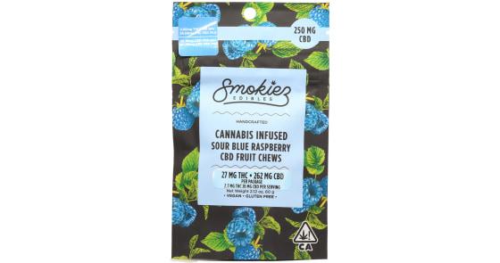 Smokiez Edibles - Sour Blue Raspberry CBD Fruit Chews - 250mg