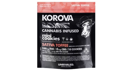 Korova - Sativa Toffee Mini Cookies - 100mg