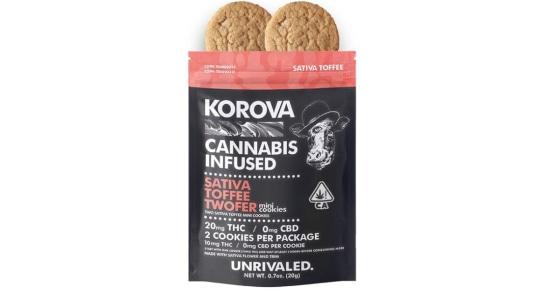 Korova - Sativa Toffee Twofer Mini Cookies - 20mg