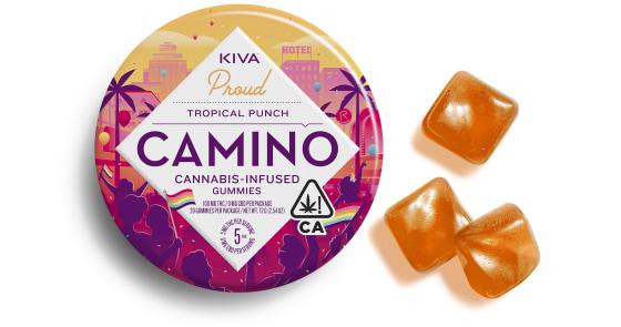 Kiva - Tropical Punch Pride Camino Gummies - 100mg