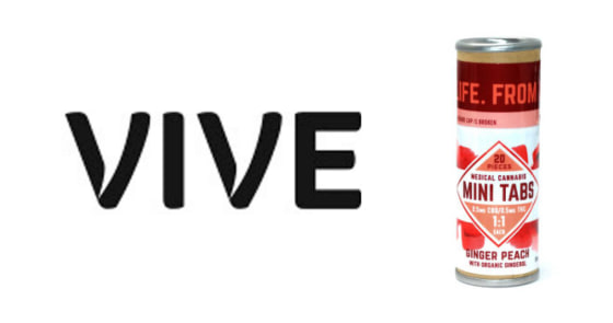 Vive - Mini Tabs - Ginger Peach - 1:1 CBD:THC