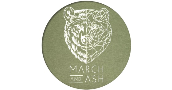 Women's - Green Geometric Bear T-Shirt - Large