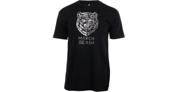 Men's - Black Geometric Bear T-Shirt - Medium