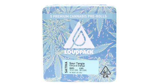 Loudpack - Sour Tangie - 5 Pack Pre-Rolls