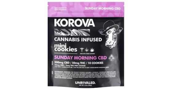 Korova - Sunday Morning 2:1 CBD Mini Cookies - 10ct