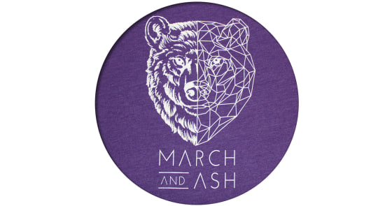 Women's - Purple Geometric Bear T-Shirt - XS