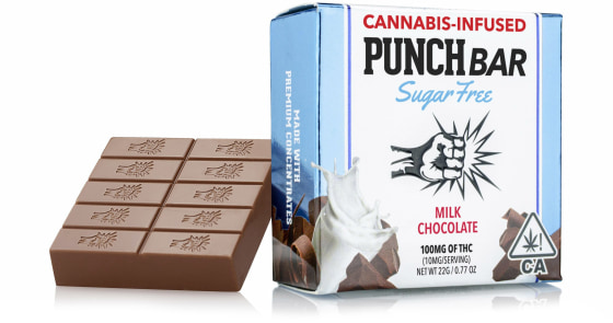 Punch Edibles - Sugar Free Milk Chocolate Bar - 100mg
