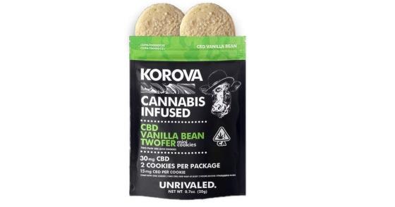 Korova - CBD Vanilla Bean Twofer Mini Cookies - 30mg