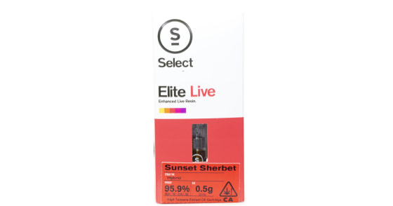 Select Elite - Sunset Sherbet Live Resin Cartridge - 0.5g