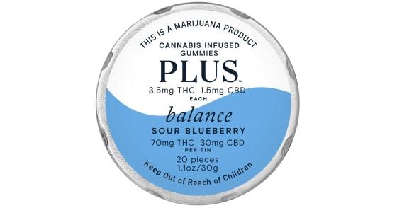 Plus - Sour Blueberry Balance Gummies - 100mg